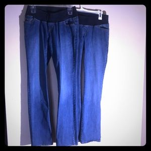 Bundle of 2 Maternity Jeans Size 4 by Liz Lange